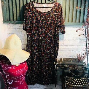 LulaRoe Julia Dress Size XL EUC